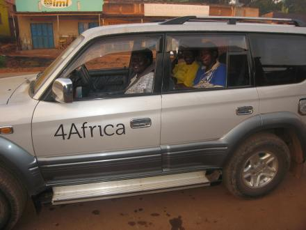 Ladies in 4Africa car