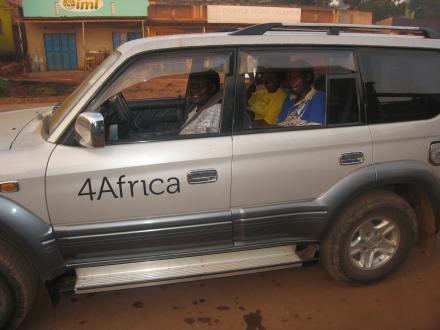 Ladies in 4Africa car